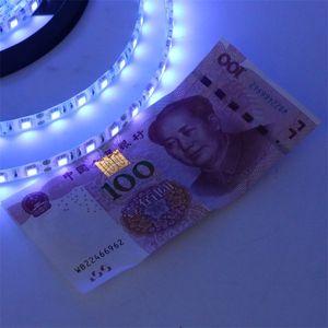 5M UV Ultraviolet Led Strip Light DC12V 5050 300Leds 60led m UV Purple Waterproof IP65 LED Tap Ribbon String Light
