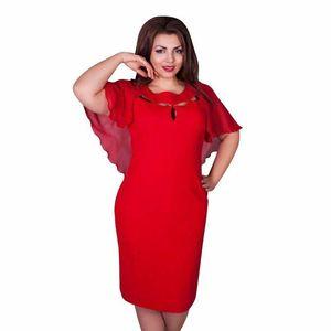Sommer Wome Bodycon Kleid Fledermaus Ärmel Casual Aushöhlen Plus Size Frauen Kleider Freies Verschiffen