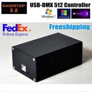 FREESHIPPING DMX512 المرحلة الإضاءة تحكم HD512 اجهة USB اخسر وظيفة مزدوجة التيار الكهربائي مارتن / Avolites البرامج WIN10