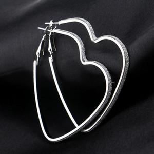 Amor coração brincos Prata Hoop brincos Anéis Pierced Algemas de orelha brincos novos brincos moda mulheres brincos vontade e Navio de areia Gota