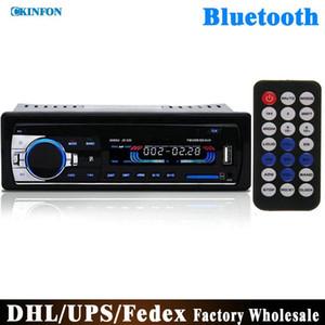 (Wholesale) 10pcs lot 12v Car Tuner Stereo Bluetooth Fm Radio Mp3 Audio Player Phone Usb sd Mmc Port Car Radio Bluetooth 1 Din