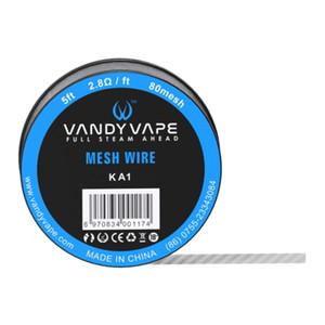 maglia rda wire per vandy mesh vape rda / ceto rda KA1 / SS316L / Ni80 mesh wire 5ft per rocchetto