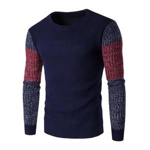 Wholesale-New Fashion Pullover Männer O Neck Sweater Männer Marke Slim Fit Pullover Casual Pullover Strickwaren Pull Homme Hohe Qualität XXL