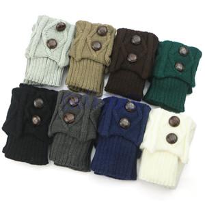 Wholesale-Women Hot Winter Crochet Knit Socks Button Boot Socks Toppers Cuffs