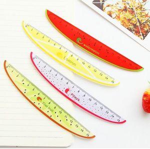 15 cm Mignon Kawaii En Plastique Règle Creative Fruit Ruler Pour Enfants Étudiant Nouveauté Article Coréen Papeterie Livraison Gratuite G1186