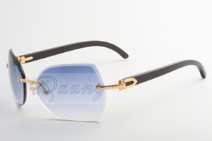 Mi empresa vende gafas de sol de oro, nuevos tipos, 8300818 gafas de sol de alta calidad, estilo de los vidrios y ángulos negros: 60-18-140 mm