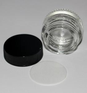 5 ml Temperli şeffaf cam depolama kavanoz özel pyrex cam konteyner küçük cam kavanoz dab balmumu bho yağ c-sigara için kapaklı buharlaştırıcı