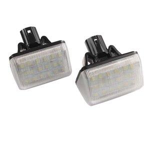 COCHE para Mazda 2PCS FREE ERROR 18SMD LED License Plate Lamp 12V