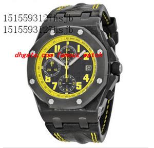 Montres de luxe Montre-bracelet pour hommes Professional Black Nouveau Bumble Bee Cadran jaune 7750 Mouvement Machines automatiques Top Qualité Dive Excellent