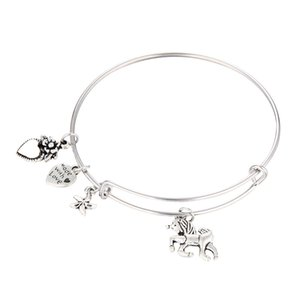 Bracelets de designer de luxe réglable bracelets de déclaration de charme bracelet en argent avec des breloques Starfish Licorne bijoux