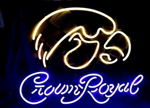 Zeichen New HIGH LIFE Neon Bier Sign Bar Echtglas Neon Light Beer Sign Iowa Hawkeyes Crown Royal Neon 16x14