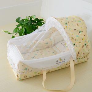 Bebé bebé cunita cama exportaciones de alta calidad multifuncional recién nacido cuna cesta con toldo cama redes