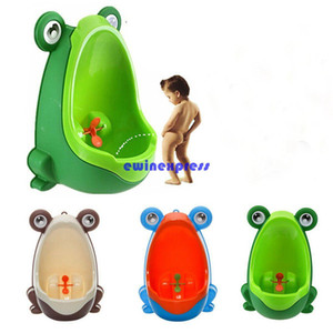 Kids PP Frog Niños Soporte vertical Orinal Orificio de pared Orina Orinal Groove Niños Bebés Urinario Nueva Promoción Inodoro de entrenamiento de pared