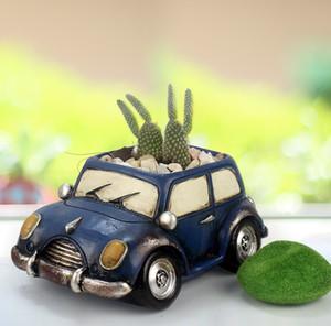 زهرة وعاء 8 سيارات الشكل النباتات النضرة حديقة اواني جميلة ريترو ستايل سيارات مكتب الرئيسية الزهرية