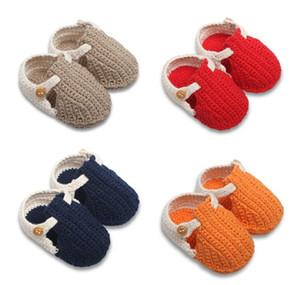 Primavera Otoño Crochet Bebé Niños Niñas Punto Prewalker Zapatos Niños Zapatillas Pisos Zapatos Infant Mocasines Niños pequeños Antideslizante de interior Zapatos de algodón