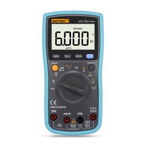 ZOTEK vc17b + automatische Bereichsdigitalmultimeter für Großbild-LCD-Anzeige, wahren RMS, Frequenz, Tastverhältnis, 6000 Wortanzeige