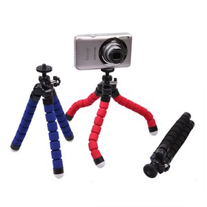 Suporte de telefone celular suporte do carro suporte flexível polvo tripé bracket monopé suporte de espuma ajustável para a câmera do telefone inteligente universal