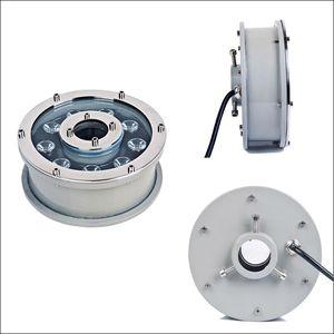 IP68 subaquática LED de iluminação 12 W AC24V para RGB DC24V para cor única paisagem luzes LED piscina