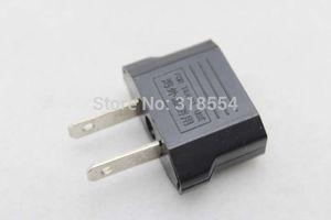 800pcs lot # Flat Two Pins AU EU TO US Type Plug Adapter Travel Power Charger Converter EU Europe to US Canada AC POWER PLUG 0001