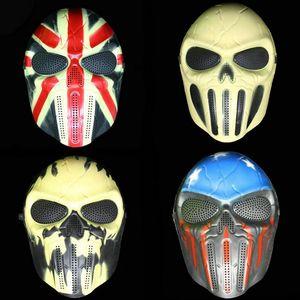 M06 Chief CS Games Maschera Halloween Scheletro Zombie Field Equipment Maschere a pieno facciale 4 Tipo di plastica per abbigliamento da festa per adulti