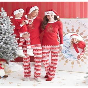 الأسرة المطابقة Pjs تتسابق عيد الميلاد منامة خريف 2017 جديد عيد الأم ابنة الأب الابن طفل منامة الأسرة الملابس مجموعة