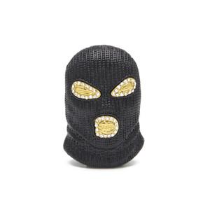 Hip Hop CSGO Pendentif Collier Hommes Style Punk Or Argent Plaqué Noir Masque Tête Charme Pendentif Haute Qualité