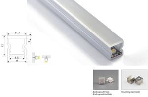 20 X 1M 로트 IP55 방수 초슬림 알루미늄 프로파일 U 형 접지 또는 바닥 램프 채널 프로파일 하우징을 주도 / 설정