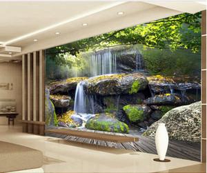 3d wallpaper benutzerdefinierte foto wandbild Rock wasserfälle landschaft dekoration malerei 3d wandbilder wallpaper für wände 3 d wohnzimmer