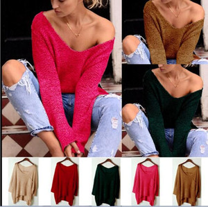 2017 autumn the new Korean version of large women's Knits cotton long sleeve stitching points sweater pullover knit shirt bottomed