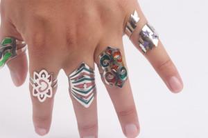 Anéis de cor mágica Anéis Ajustáveis Toe Ring Mix Lotes Unisex Banhado A Prata anéis de Liga de Zinco Jóias Por Atacado frete grátis