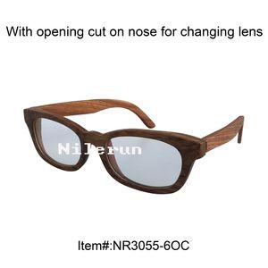 wooden reading eyeglasses