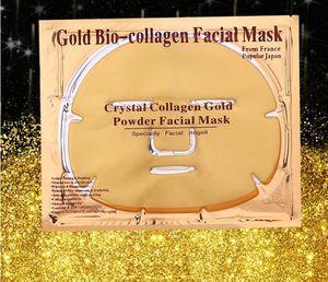 Máscara de oro 24K polvo Bio colágeno albúmina Máscara facial cristalina muchacha de la mujer Cuidado de la Piel Gel máscaras mascarilla facial Las cáscaras de DHL