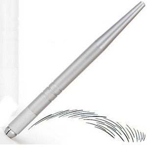 100pcs argent maquillage permanent professionnel stylo maquillage broderie 3D tatouage manuel stylo microlames sourcils