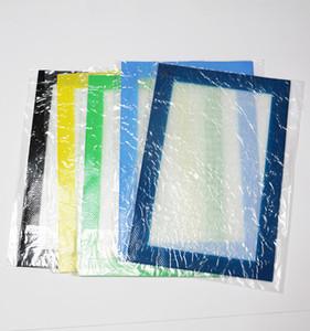 Yüksek kaliteli yapışmaz silikon pişirme mat set özel silikon fiberglas ısıtma pasta mat levha 20x30 cm silikon dab wax yağı buharlaştırıcı mat