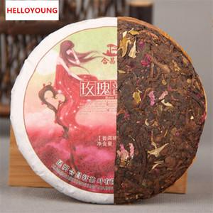 100 g Ripe Puer thé Yunnan saveur rose Puer thé Pu'er Old Tree bio cuit Puer gâteau naturel noir Puerh Tea Factory Direct Sales