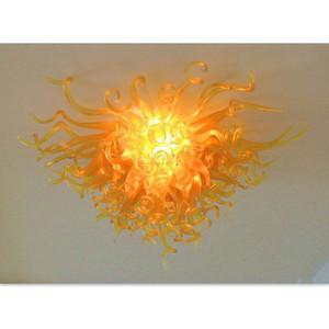 Barato Luz de techo Cristal Cristal Sala de estar DecorLED Borosilicate Glass Chandelier Lightings 100% Handmade Art Crystal Chandelier Lightings