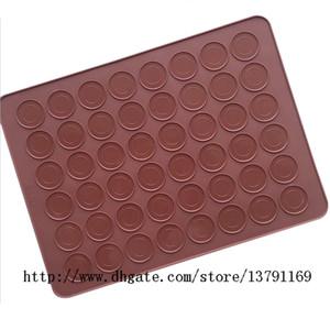 Macaron silicone baking folha mat muffin diy bolinho de chocolate molde 48 capacidade rodada para bolos bolo de pastelaria macaron