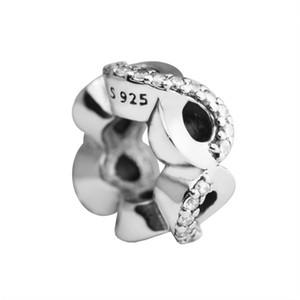 Fête des Mères Cadeaux Infini Amour Spacer Charms Perle Original 925 Sterling En Argent Pave Cristal Perles Pour Bijoux DIY Making Accessoires