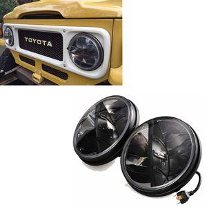 "7 ""Yuvarlak LED Farlar Land Cruiser FJ40 için 36w Led far, Jeep CJ Wrangler - 2 Set"