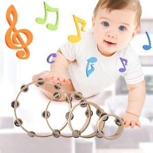 Madeira Tambourine Única Linha Tambourines Bells Jingles Hand Held Musical Toy kid Novo