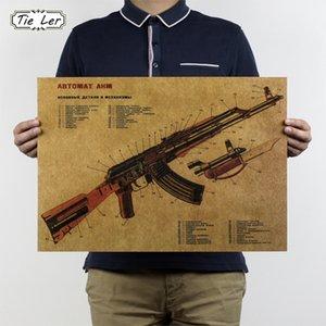 Atacado- TIETE LER Vintage Melhorou Projeto de Estrutura Kraft Papel Poster Bar Decoração de parede Adesivo de Parede