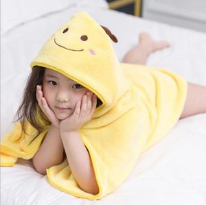 Nouveau design 2017 animaux enfants Peignoir enfant en bas âge fille garçon bébé Cartoon Motif Serviette de bain Serviette de bain avec capuche Wrap Peignoirs