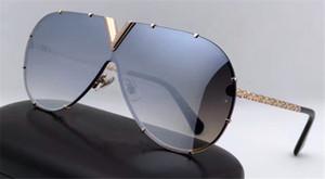 occhiali da sole di best-seller di stile del progettista per uomo L0898 piloti senza cornice occhiali da sole squisito Handmade superiore di qualità per le donne con scatola