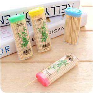 Al por mayor de 90 PC / paquete portable creativo palillo de dientes de bolsillo familiar disponible Palillos