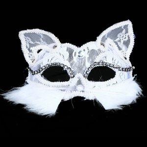 Máscara de gato de alta qualidade Máscara Negra Máscara de gato máscara dentelle máscara 30 pcs / Vestido De Fantasia Fantasia Fantasia Fantasia Máscara De Mulher Sexy Máscara de festa IC623