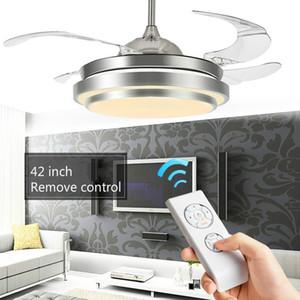 42 pouces Led Ventilateur De Plafond Lampe avec Lumières Plafonnier Ventilateur Luxe Décoratif Led Pliable Ventilateur De Plafond Gradation Télécommande