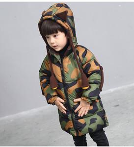 Giacca in cotone per bambini Giacca in cotone Camouflage fitta cotone down cappotto bambini faux pelliccia parka bambino in cotone tuta sportiva in cotone