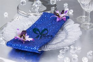 Good Looking 40cm*40cm Sequin Table Napkin For Wedding Table Cloth Decoration