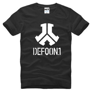 Novo Designer Defqon 1 T-shirt Dos Homens de Algodão de Manga Curta de Rock And Roll Banda dos homens T-Shirt Estilo Verão Masculino Música Hip Hop Top Tee