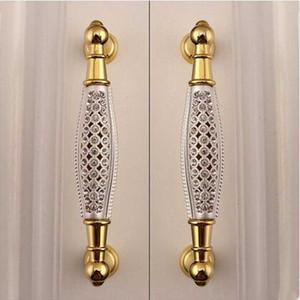 """128 milímetros de moda de luxo de vidro móveis de diamantes ouro punho Kitchen gabinete guarda-roupa puxador K9 cristal puxar o botão 5"""""""